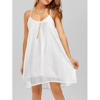 Spaghetti Strap Layer Chiffon Short A Line Dress