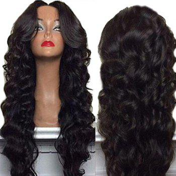 Long Shaggy Center Part Body Wave Synthetic Wig