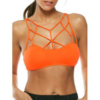 Padded Exotic Cross Strappy Bralette
