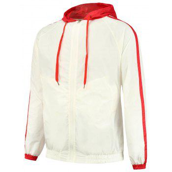Zip Up Two Tone Hooded Jacket
