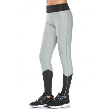 Color Block High Waist Compression Leggings