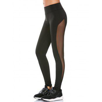 See Through Mesh Panel Workout Leggings