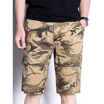 Camouflage Cargo Shorts with Pockets