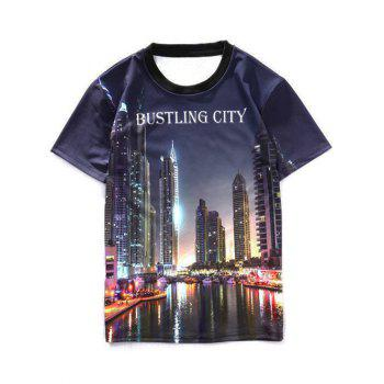 Bustling City Printed Crew Neck T-Shirt
