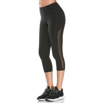 Sheer Mesh Cropped Athletic Leggings