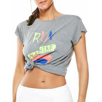 Graffiti Letter Running T-Shirt