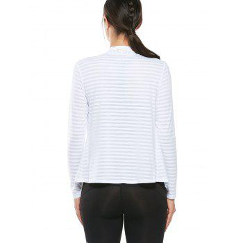Quick Dry Collarless Front Wrap Top - Blanc XL