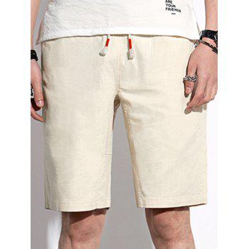 Back Pocket Drawstring Casual Shorts