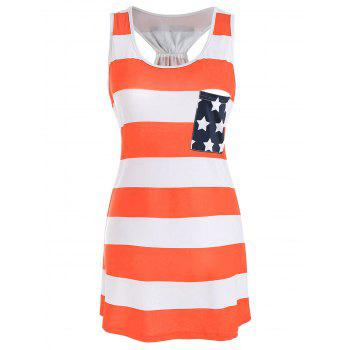 Stars and Stripes Racerback Tank Dress