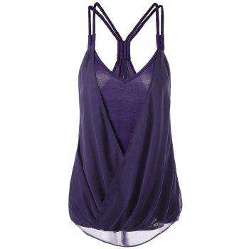 Crossover Racerback High Low Hem Tank Top