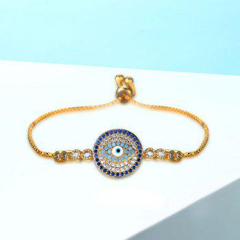 Bracelet strass rond de diable - Or