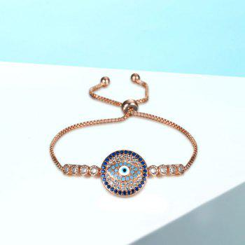Bracelet strass rond de diable - Or Rose