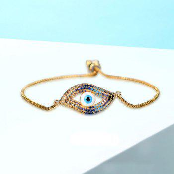 Rhinestoned Devil Eye Bracelet - Or