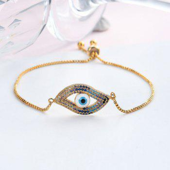 Rhinestoned Devil Eye Bracelet