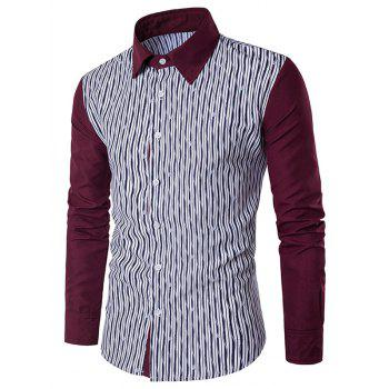 Colorblocked Allover Printed Casual Shirt