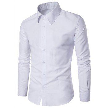 Slim Long Sleeve Button Up Shirt