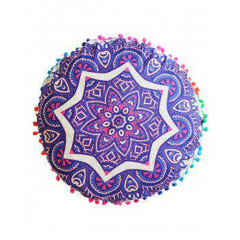 Indian Mandala Cushion Round Pouf Pillow Case