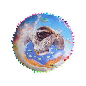 Sloth Print Round Home Decorative Pillow Cover