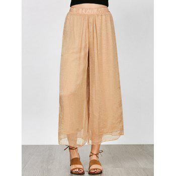 High Waisted Layer Wide Leg Pants