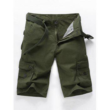 Slim Fit Military Cargo Shorts