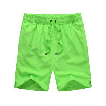 Mesh Lining Hidden Pocket Drawstring Board Shorts