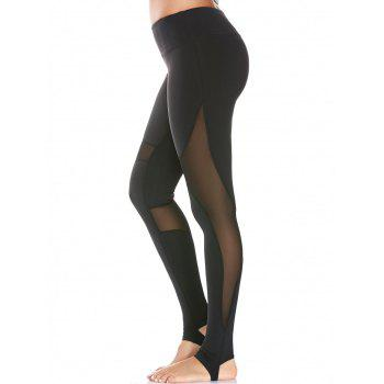 Mesh Panel High Waist Yoga Stirrup Leggings