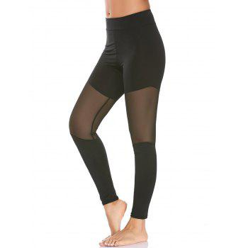 High Waist Semi Sheer Mesh Workout Leggings