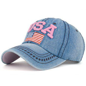 Ameriacn Element Embroidery Baseball Cap - PINK PINK