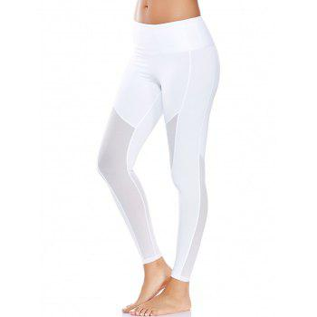 Mesh Panel High Waist Yoga Leggings