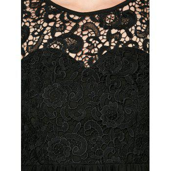 Sleeveless Voile Lace Short Cocktail Semi Formal Dress - L L