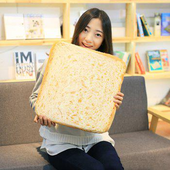 Sliced Toast Sofa Cushion Velboa Square Throw Pillow