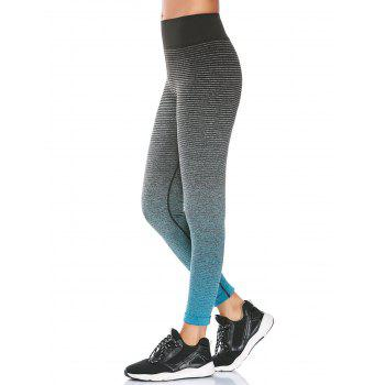 High Waist Ombre Printed Fitness Leggings