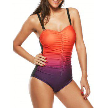 Scrunch Front Ombre One-Piece Swimsuit