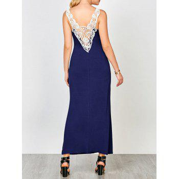 U Neck Cutwork Long Formal Evening Dress