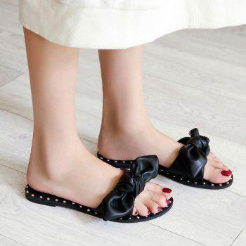 Bow Studded Slippers