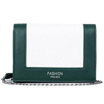 Chain Contrast Colour Crossbody Bag