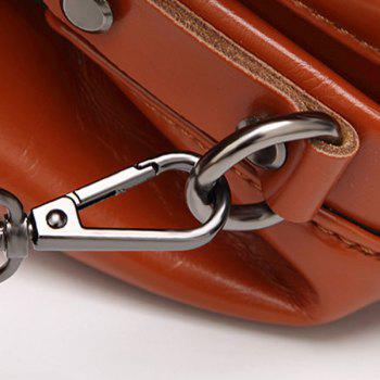 Top Handle Push Lock Handbag -  BLUE