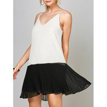 Open Back Chiffon Pleated Slip Dress