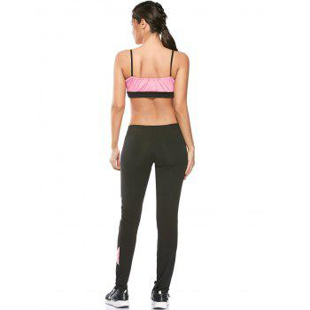 Padded Sports Bra and Two Tone Fitness Leggings - XL XL
