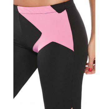 Padded Sports Bra and Two Tone Fitness Leggings - PINK PINK