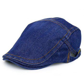 Adjustable Vintage Denim Flat Hat - MEDIUM BLUE MEDIUM BLUE