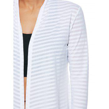 Quick Dry Collarless Front Wrap Top - WHITE XL