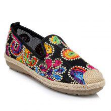 Flower Pattern Mesh Flat Shoes