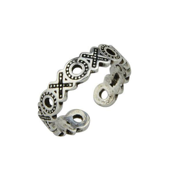 Alloy Engraved Circle Ring delicate alloy engraved circle ring for women