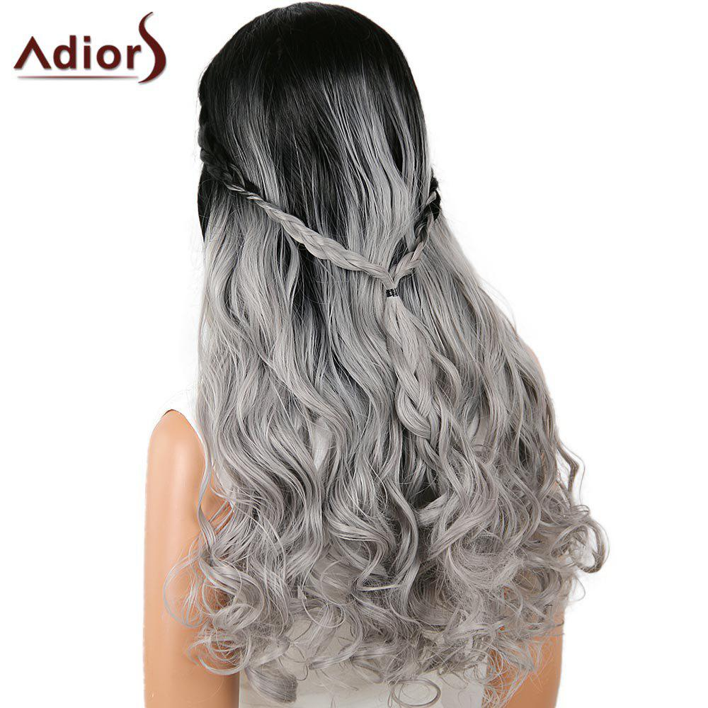 Adiors Dyed Perm Center Part Long Wavy Colormix Lace Front Synthetic Wig аксессуар cityup салфетка из микрофибры ca 106