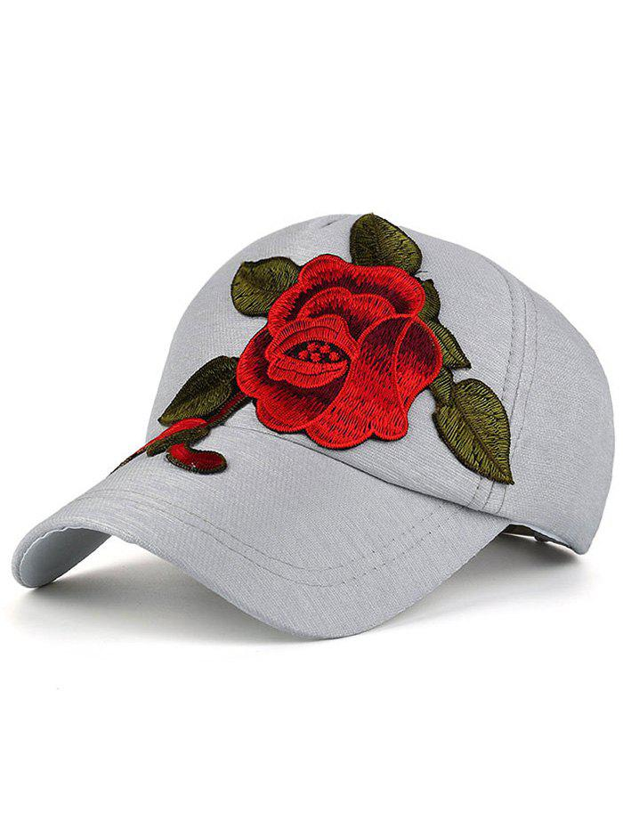 Showy Peony Embroidery Baseball Hat unisex men women m embroidery snapback hats hip hop adjustable baseball cap hat