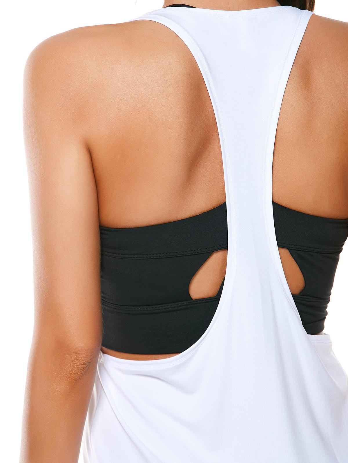 Racerback Workout Layering Running Vest - WHITE M