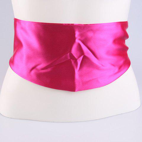 Imitation Silk Ribbon Wide Corset Belt - TUTTI FRUTTI