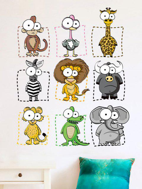 Removable Cartoon Animal Wall Sticker For Kids - COLORMIX 45*60CM