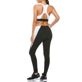 Cutout Sports Bra and Two Tone Gym Leggings